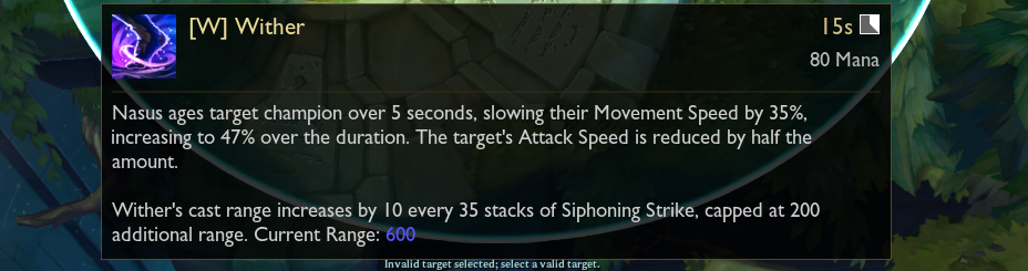 Nasus Patch Notes