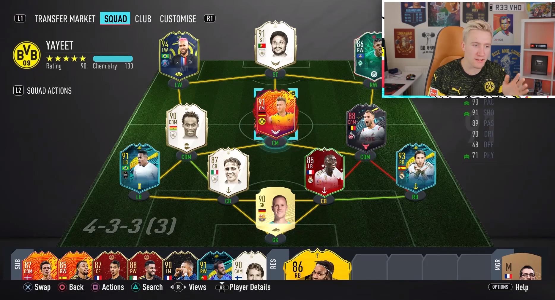 Reev built a strong La Liga and Bundesliga hybrid for Alex Sandro