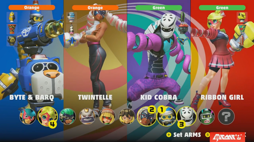 ARMS fighters