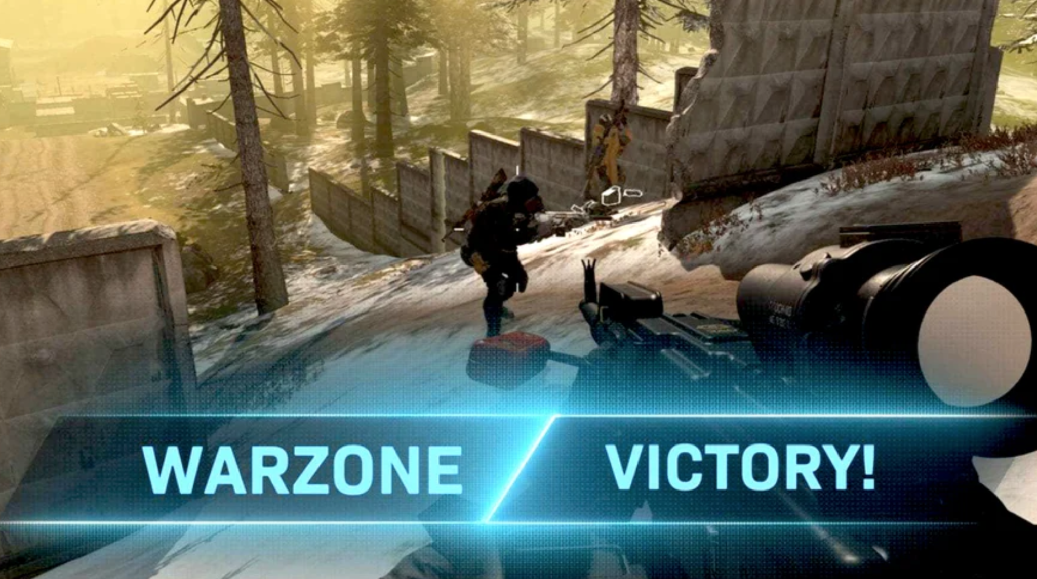 Message in Call of Duty after getting Warzone victory.
