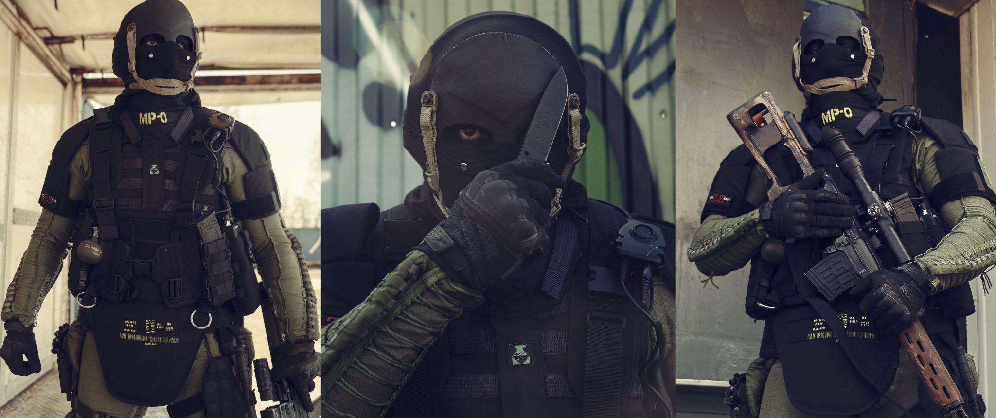 Inzzen's Nikto cosplay from Modern Warfare.