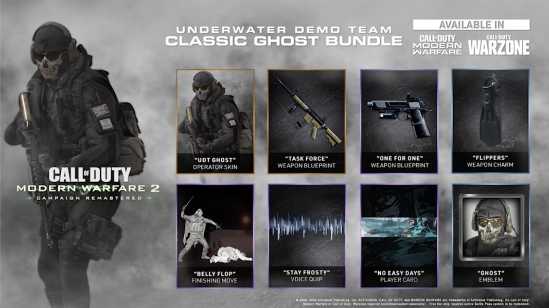 Ghost Team bundle in MW2 Remastered.