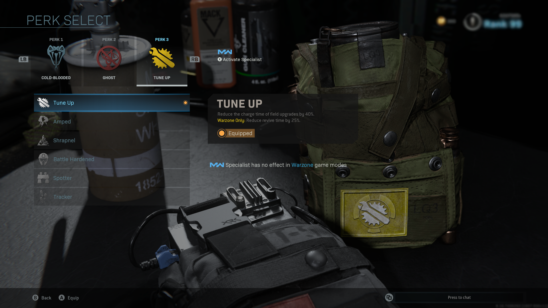 Tune Up perk in Warzone.
