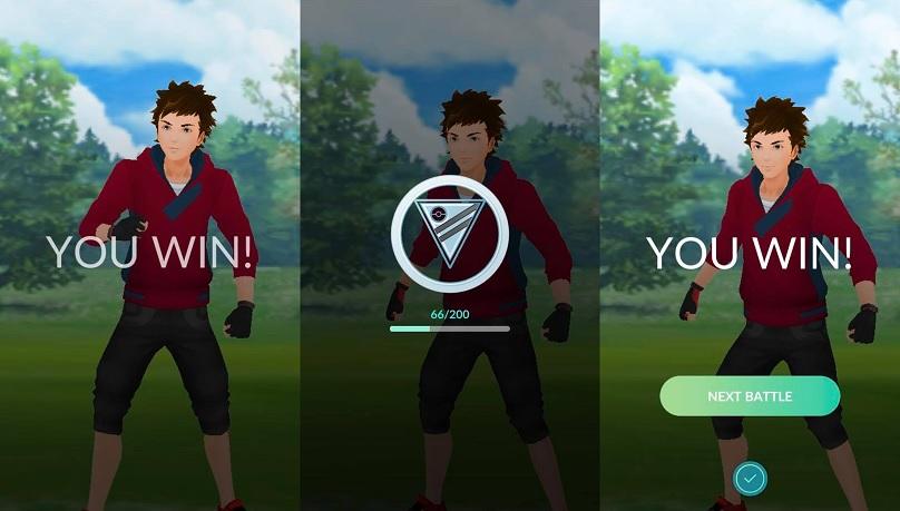 GO Battle League Win