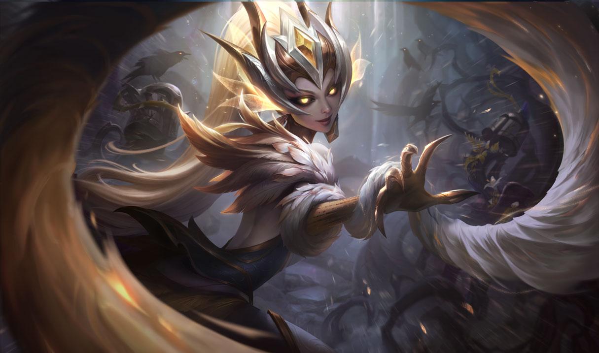 Coven Zyra Prestige Edition splash art for League of Legends