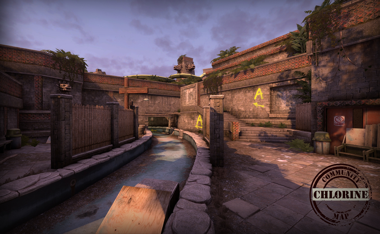 Canal to A site on de_chlorine in CS:GO