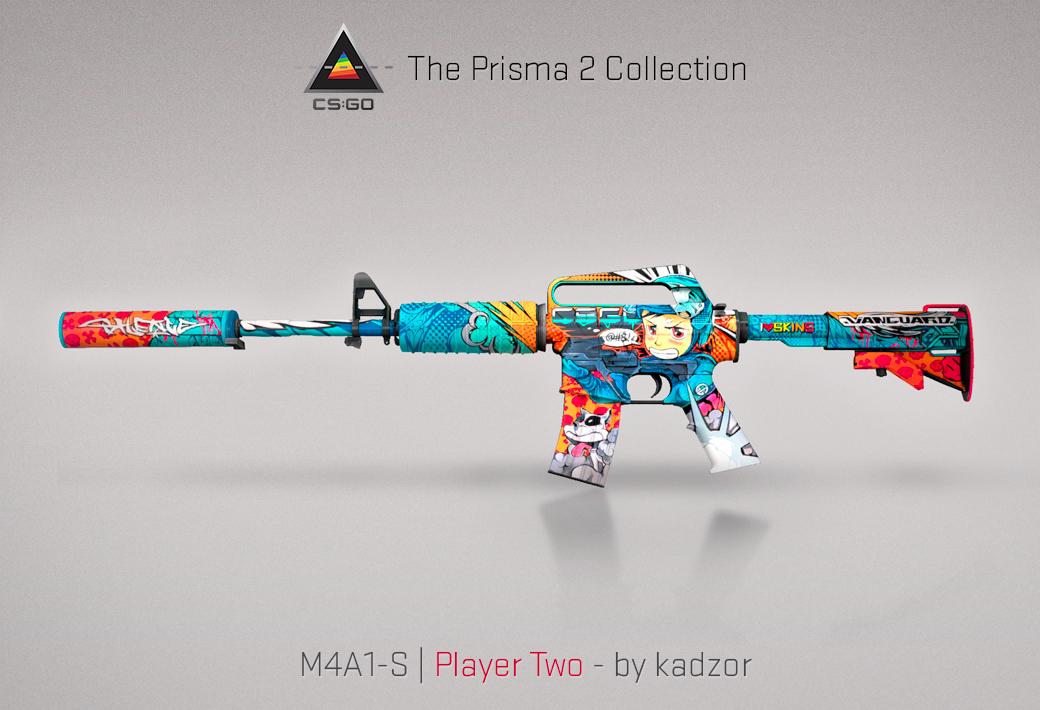 M4A1-S Player Two skin render for CS:GO