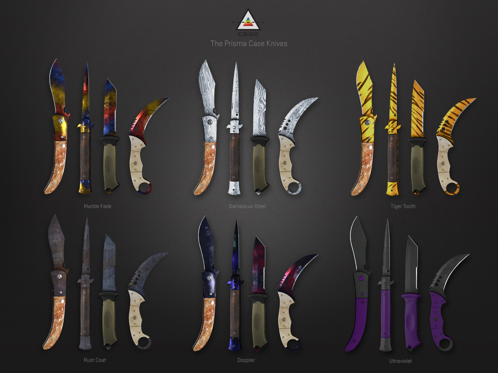 Prisma Case knife display for CS:GO