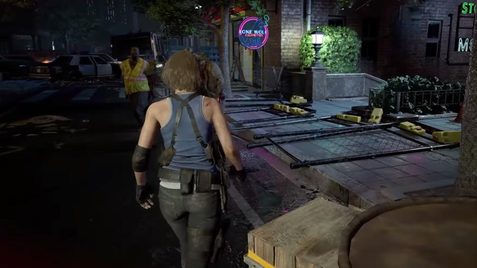 Resident Evil 3 remake running