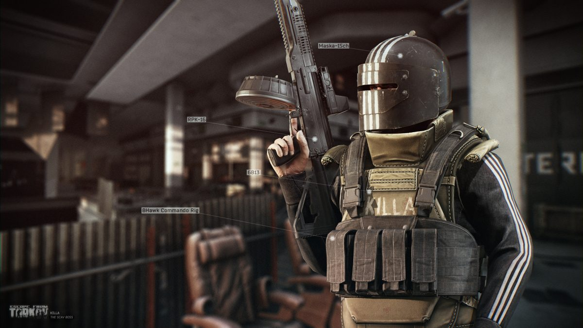 Fully-kitted out armor and helmets are vital in Escape from Tarkov's punishing player-vs-player raids.