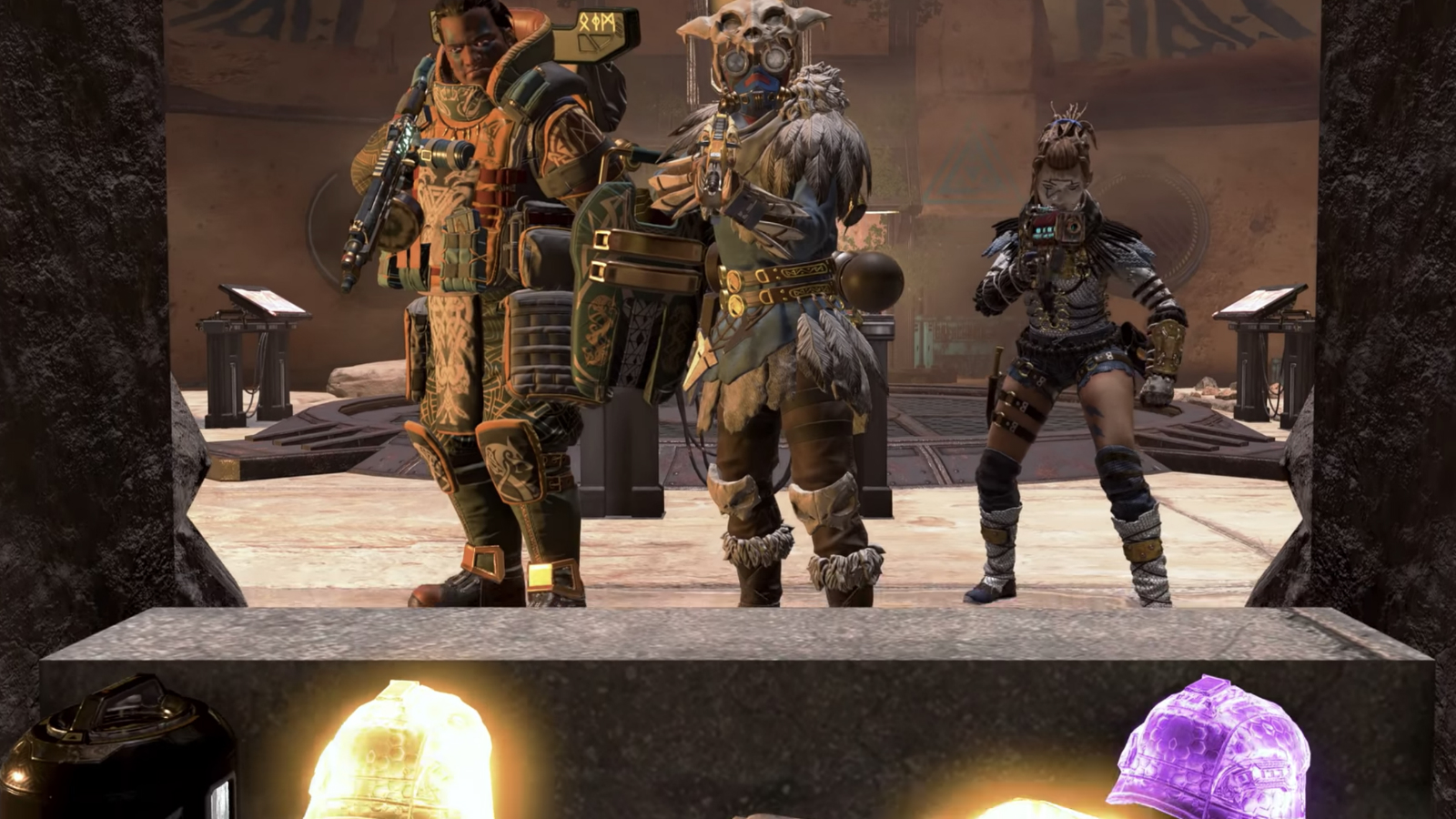 Bloodhound wraith and gibraltar in apex legends