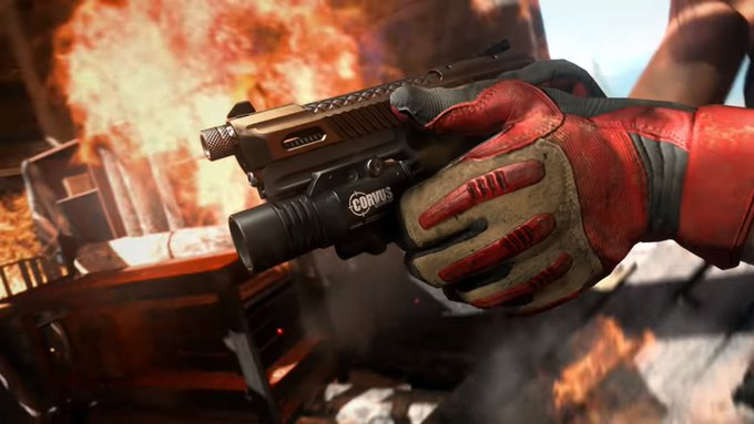 Modern Warfare's new Renetti handgun is designed for close-combat firefights.