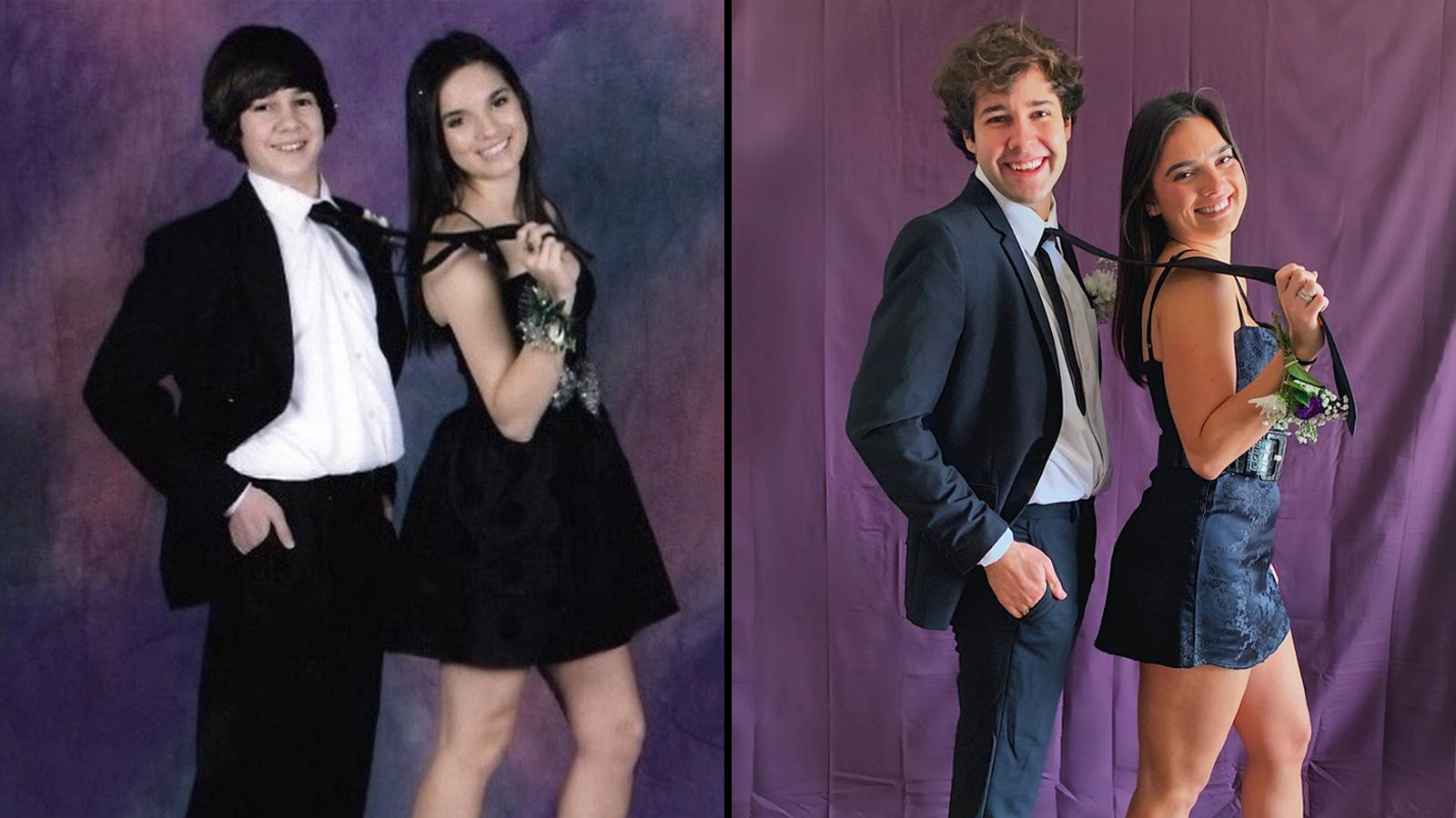 David Dobrik and Natalie Mariduena 9 years apart.