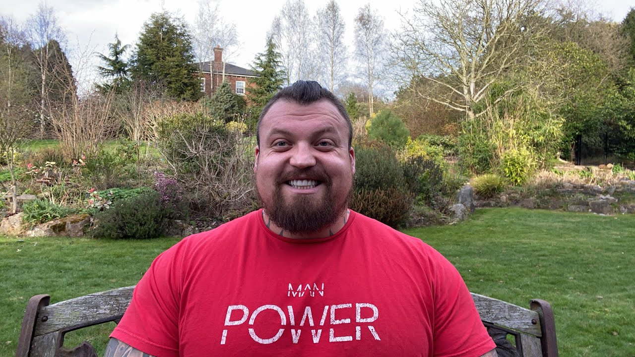 Eddie Hall during a YouTube video.