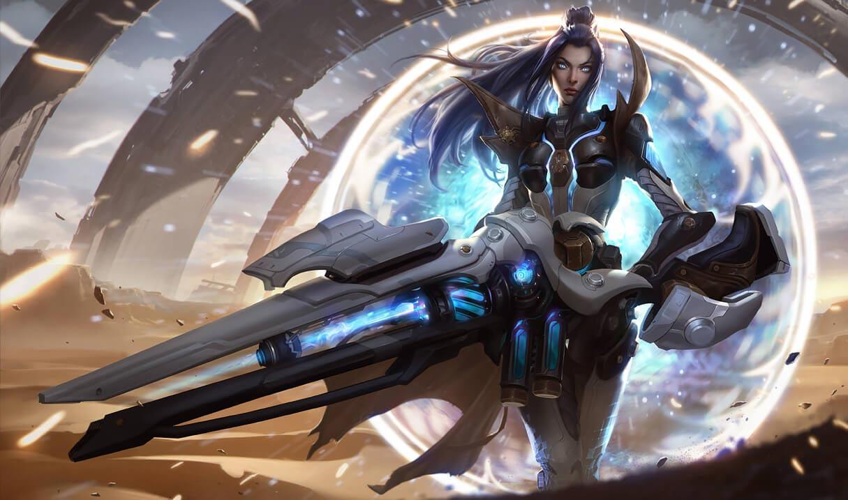 Pulsefire Caitlyn splash art for League of Legends