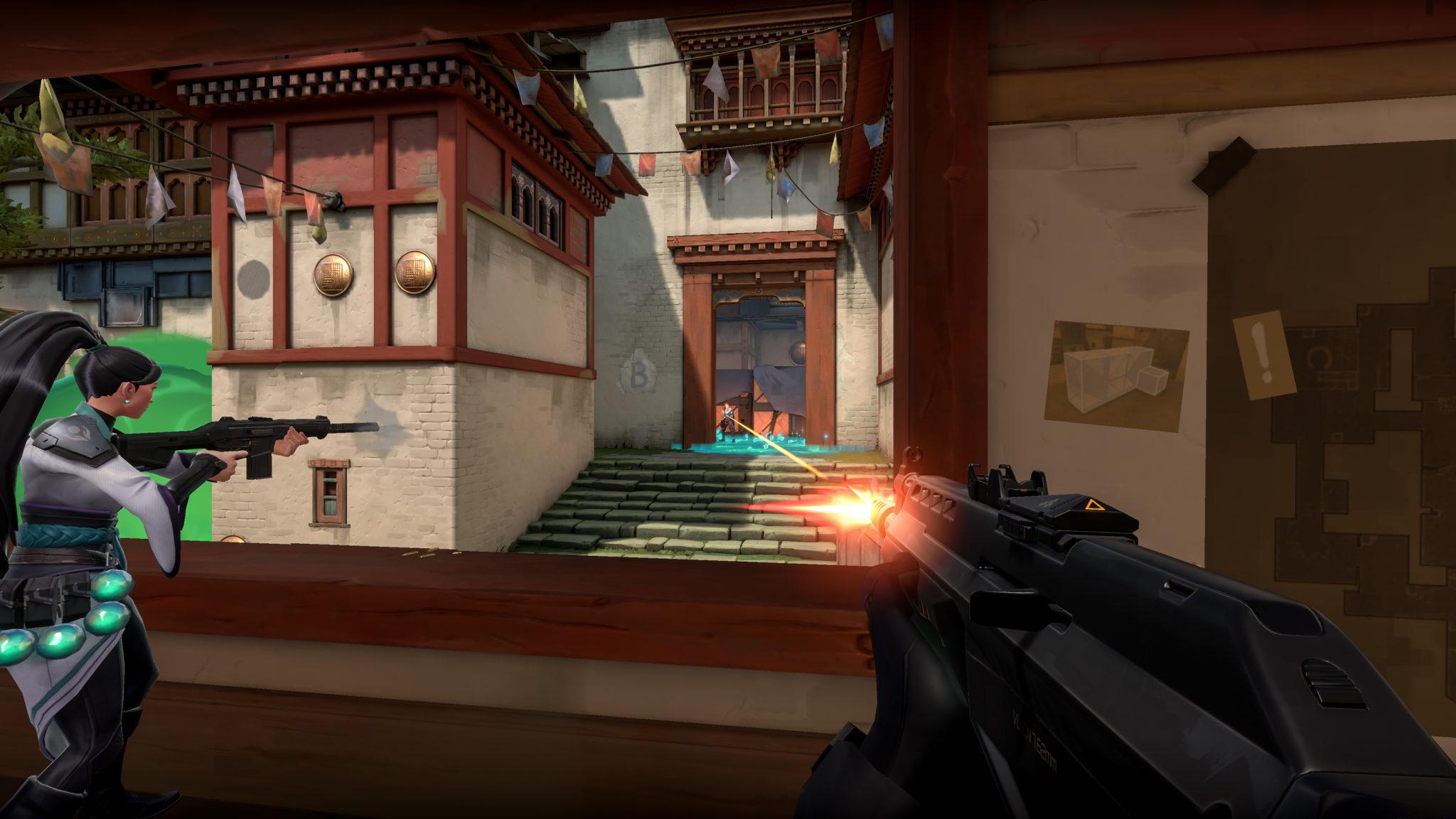 Gun shooting in Valorant