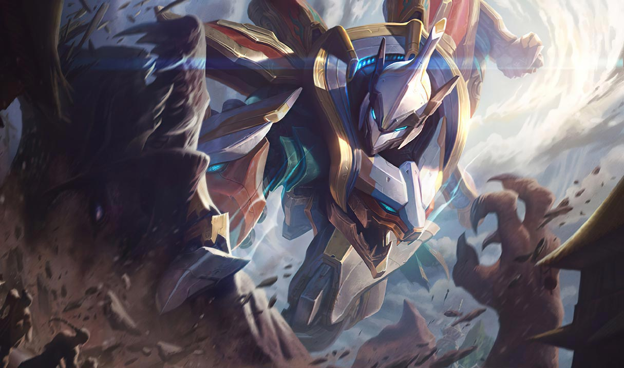 Mecha Kingdoms Sett splash art for League of Legends