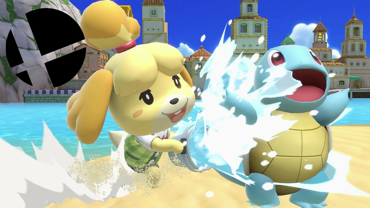 Isabelle and Squirtle in Super Smash Bros. Ultimate