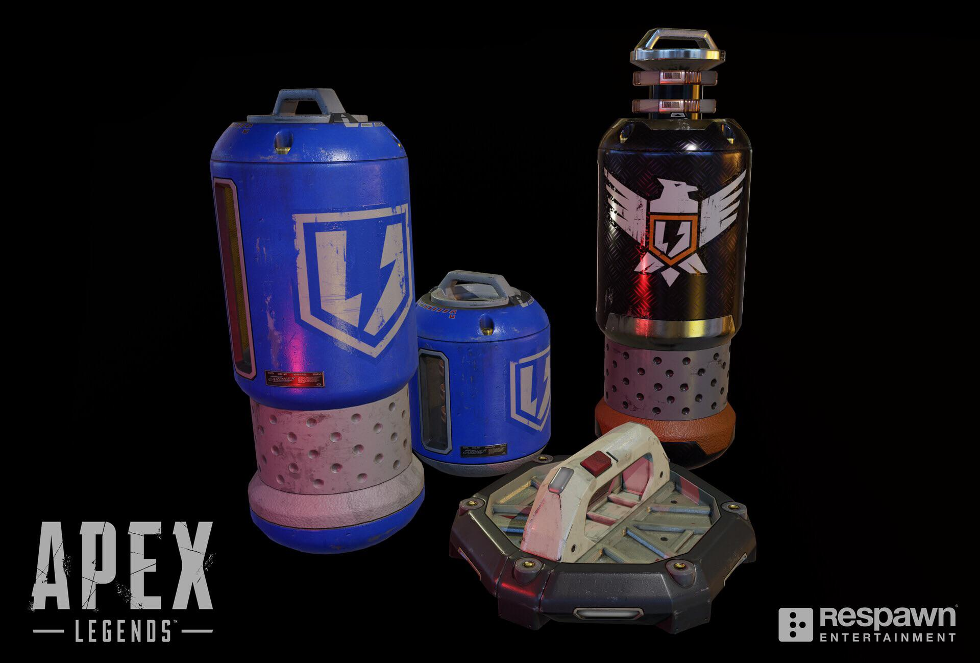 Sheild batteries in Apex Legends.