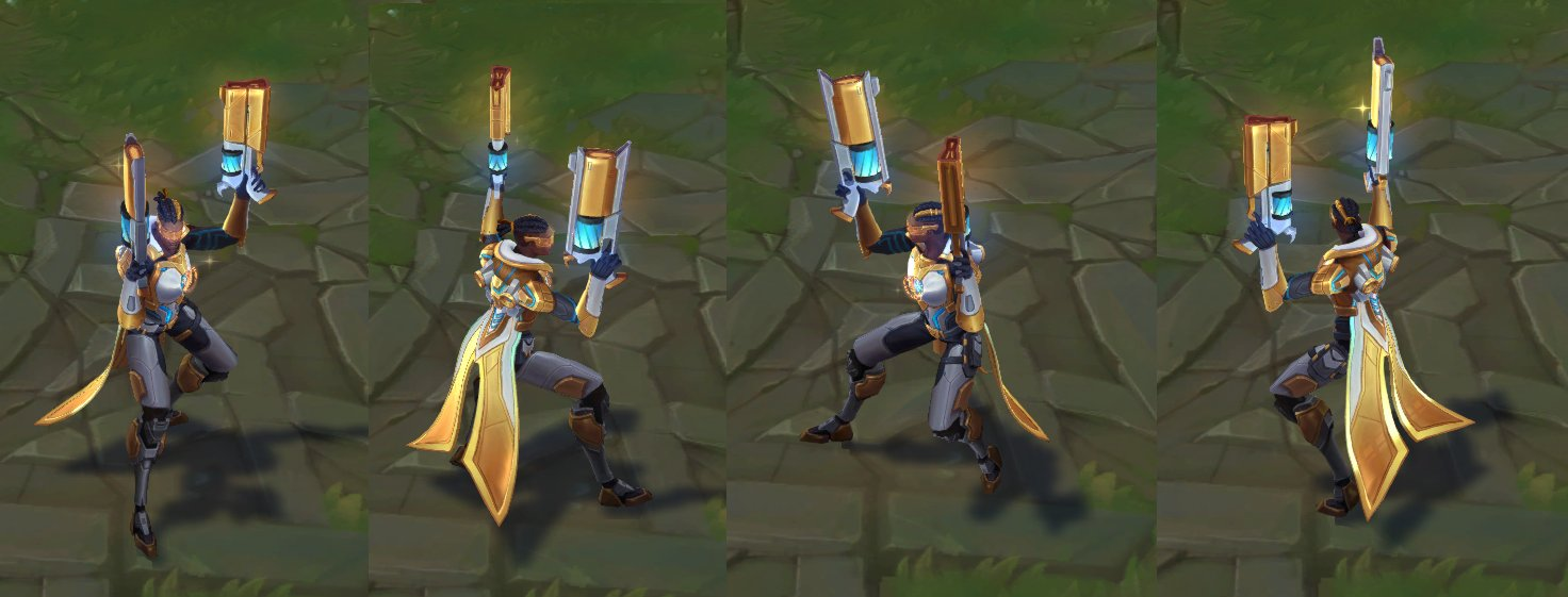 Pulsefire Lucian Prestige edition in-game model for League of Legends
