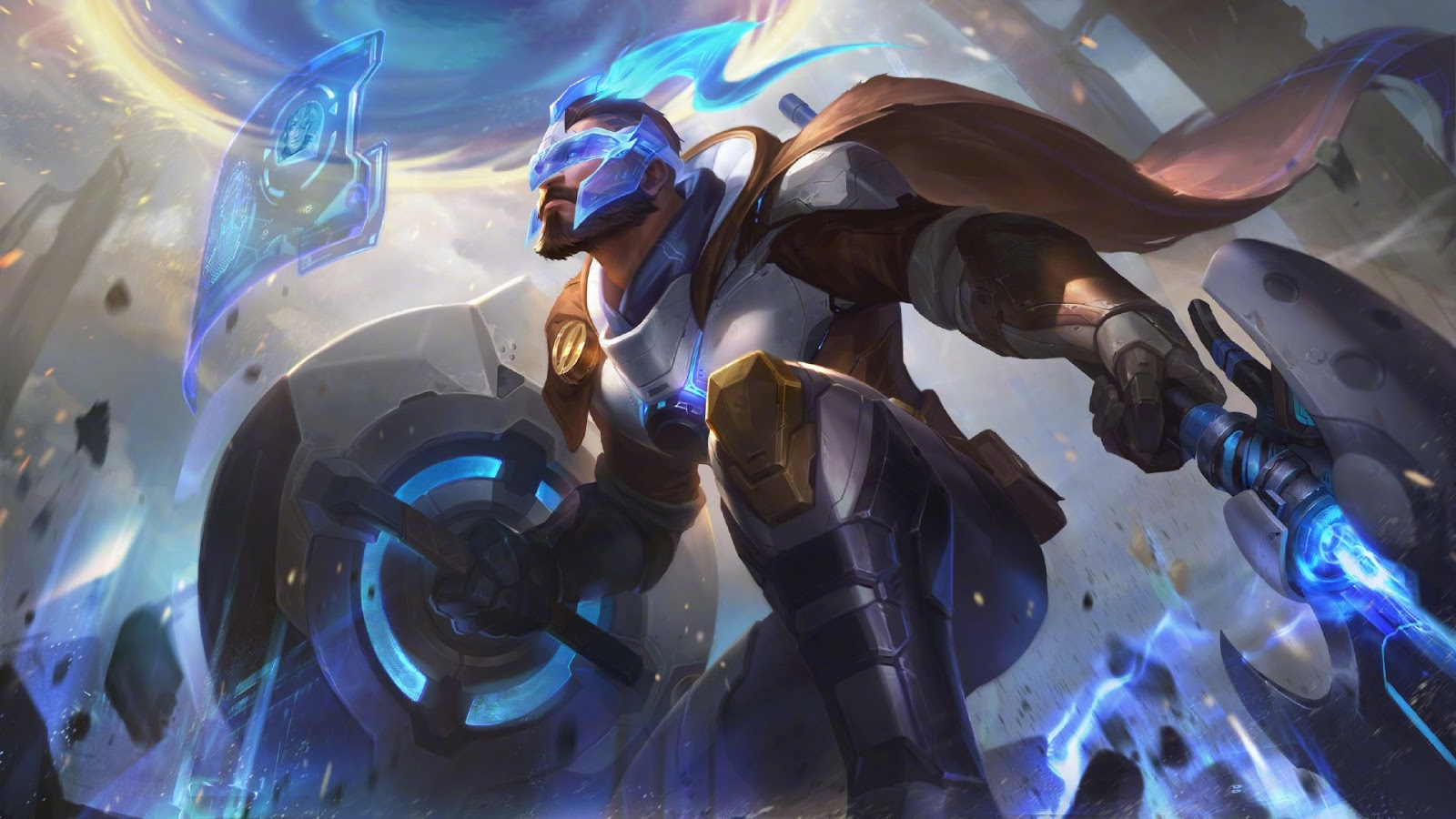 Pulsefire Pantheon splash art for League of Legends