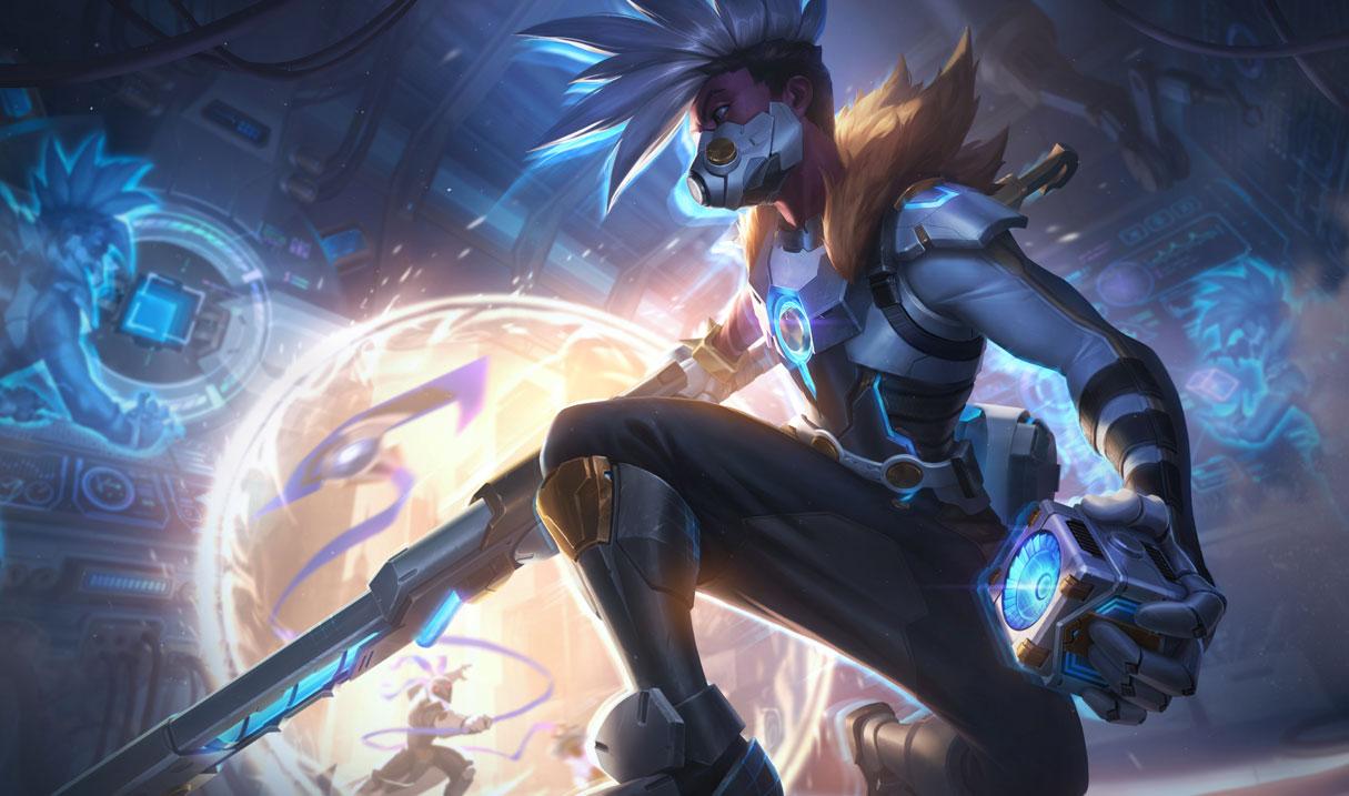 Pulsefire Ekko splash art for League of Legends