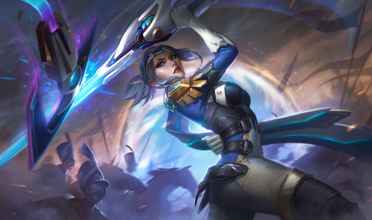 Pulsefire Fiora splash art for League of Legends