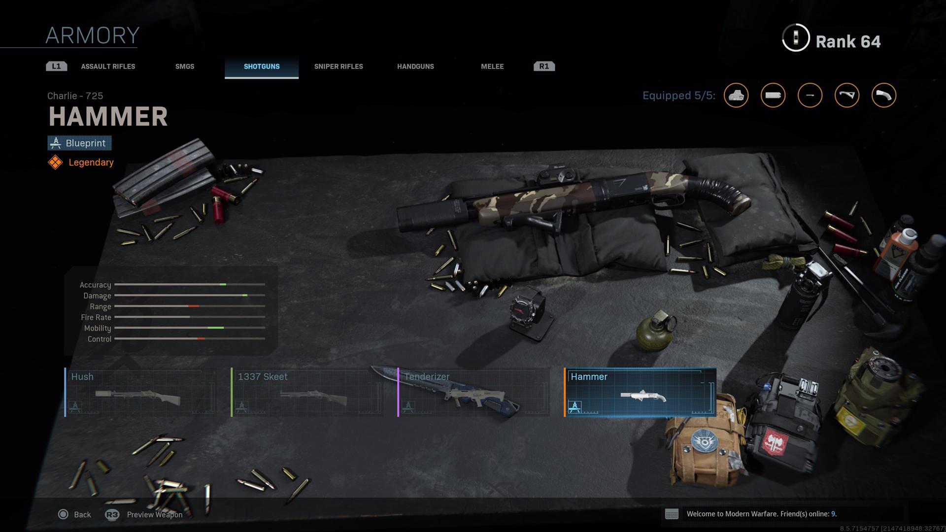 Hammer blueprint in Modern Warfare.