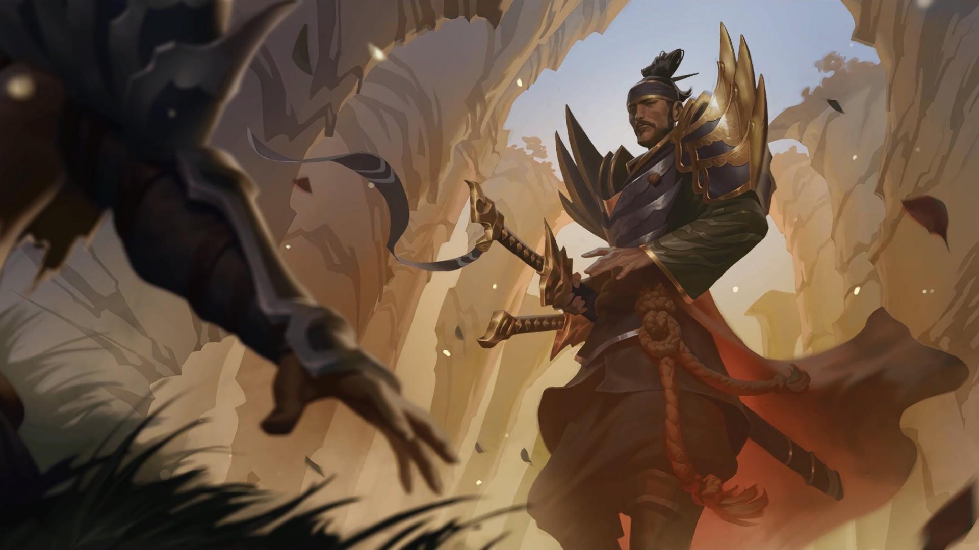 Yone art in Legends of Runeterra