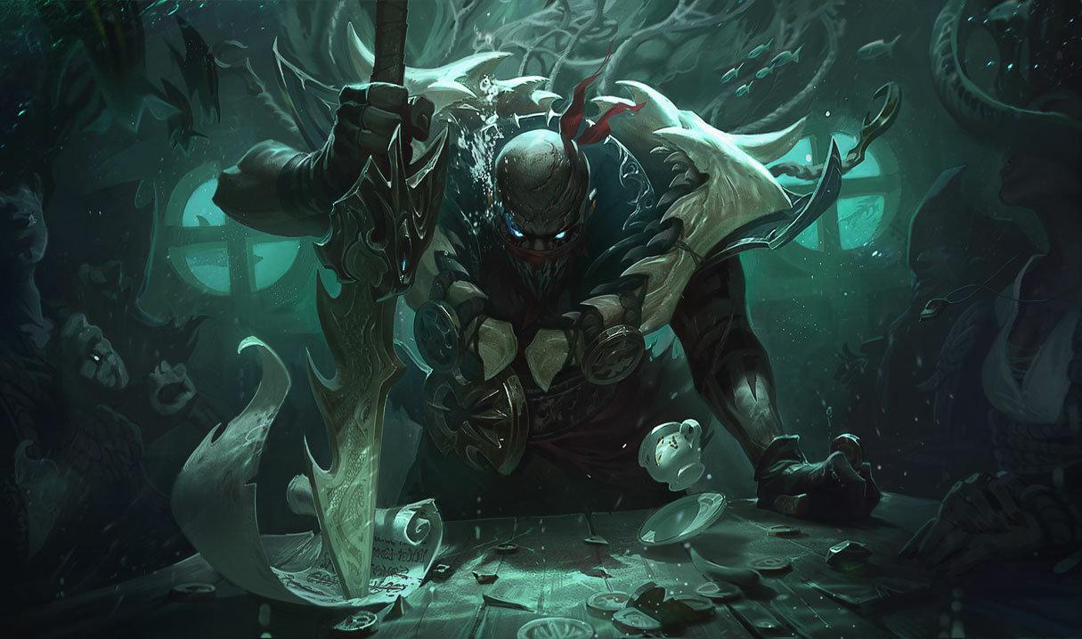 Pyke splash art for League of Legends
