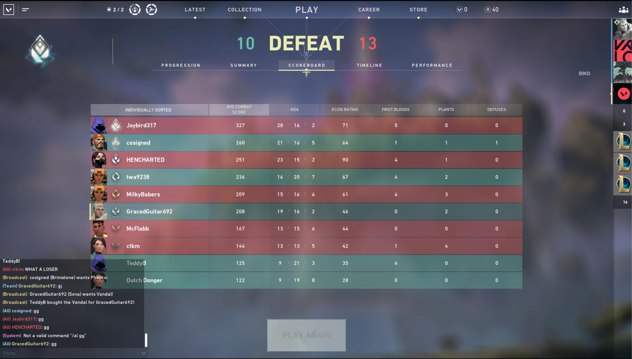 In-game screenshot of Valorant rank redesign.