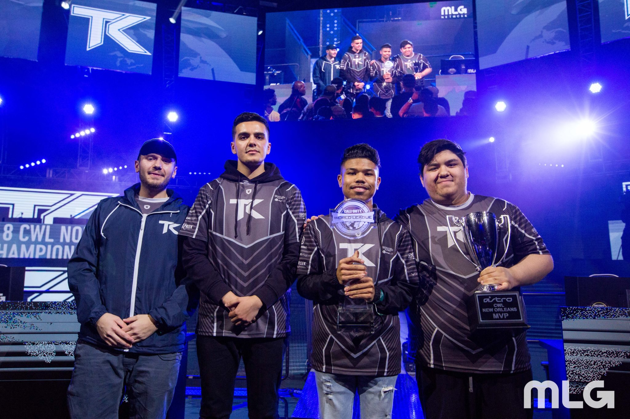 OpTic Gaming Los Angeles' Chino and former tK members.