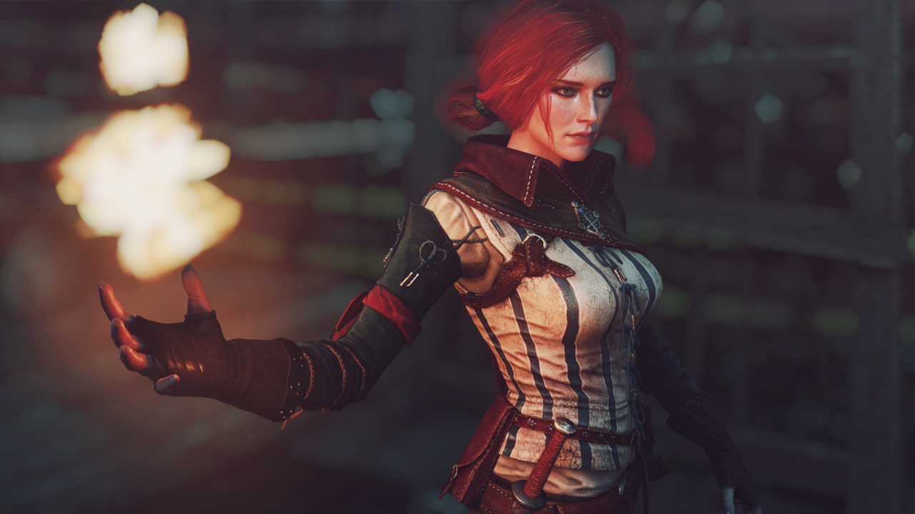 Triss Merigold conjuring a spell.