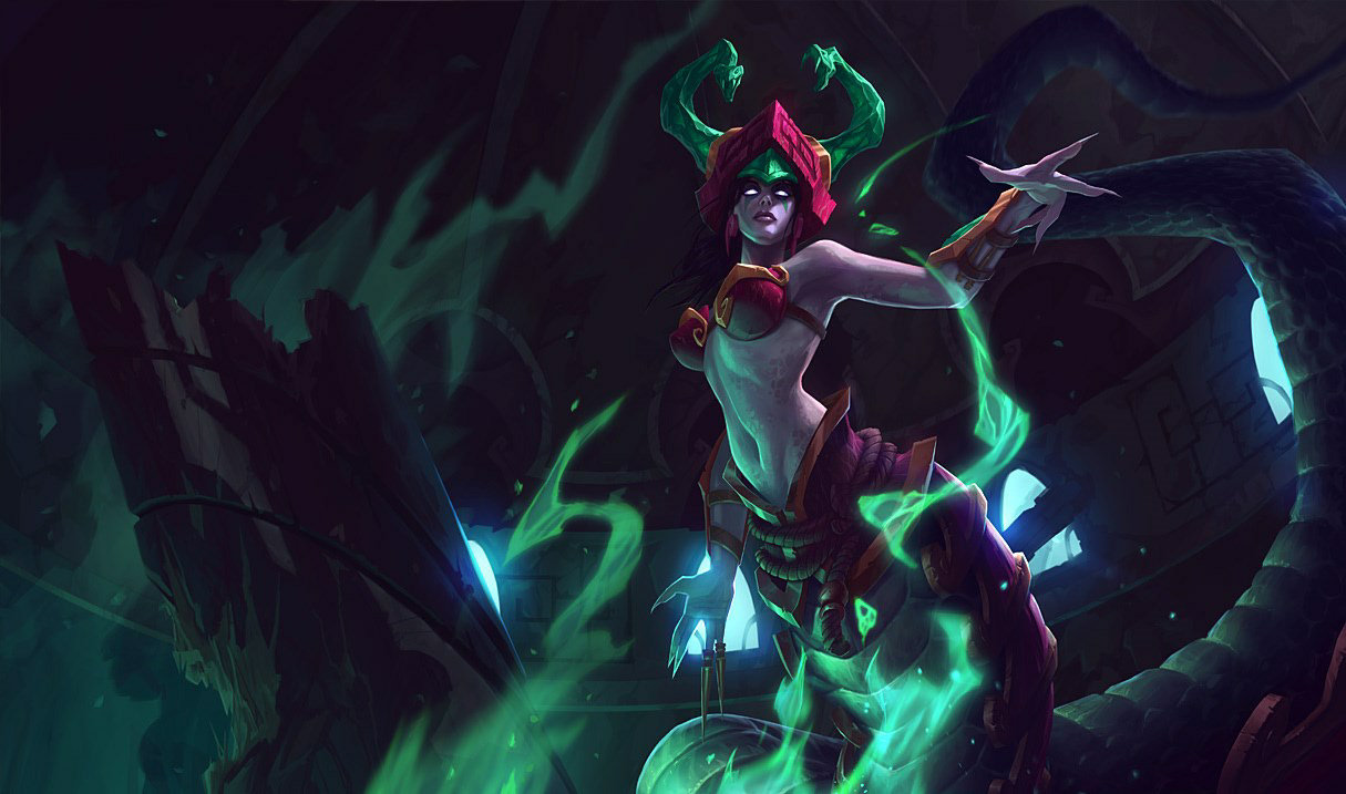 Jade Fang Cassiopeia skin for League of Legends
