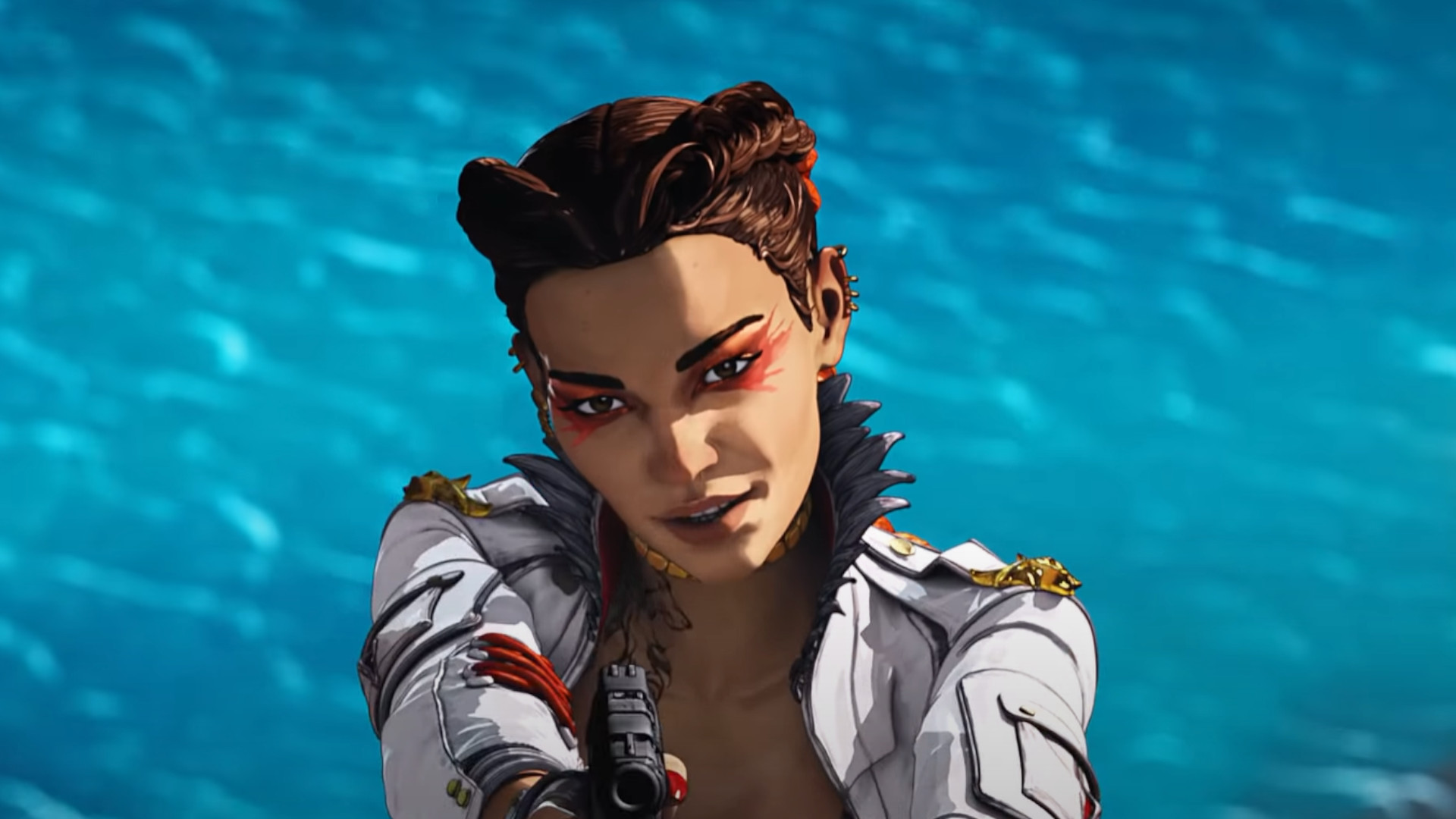 Loba in Apex Legends trailer aiming