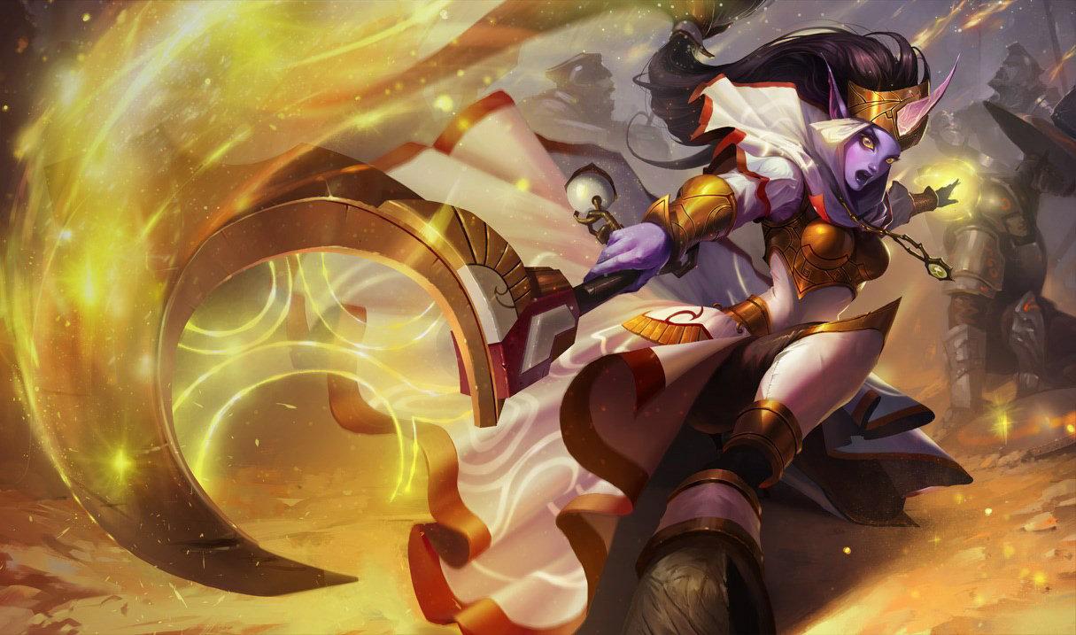 Celestine Soraka splash art for League of Legends