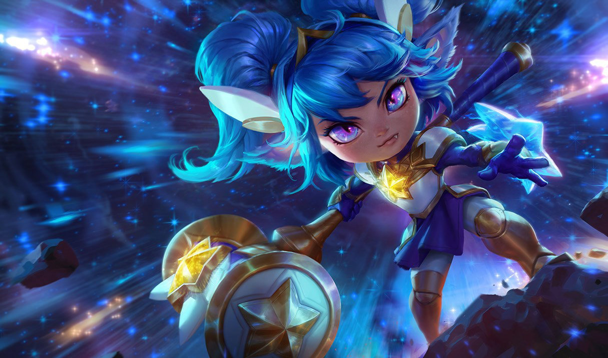 Star Guardian Poppy splash art for League of Legends