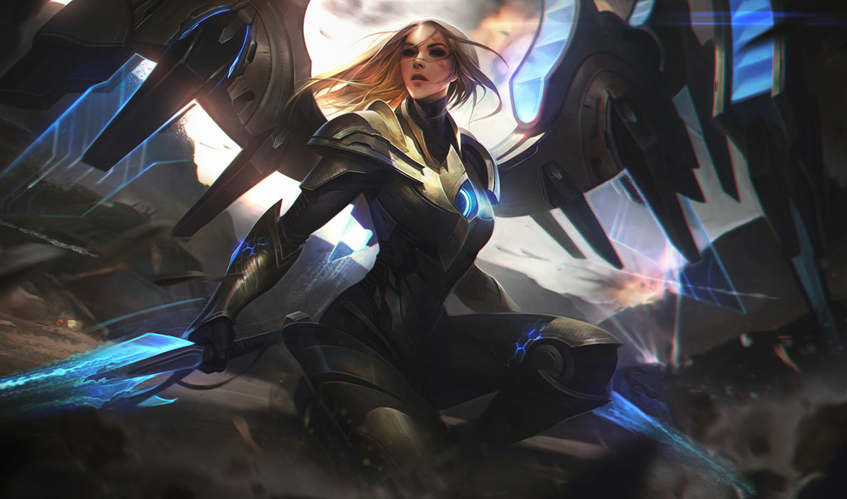 Aether Wing Kayle splash art for League of Legends