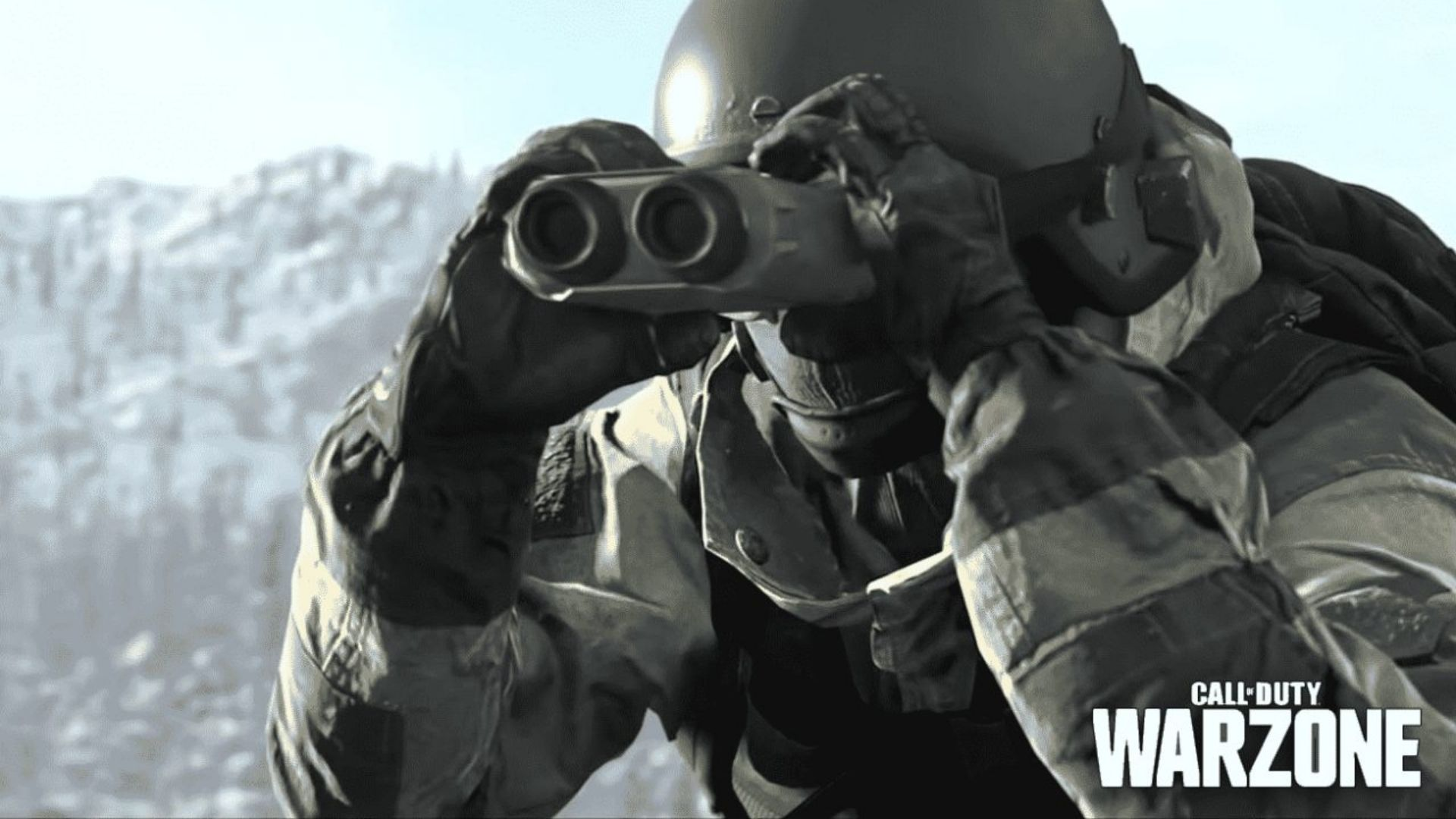 Player looking to the distance in Warzone.