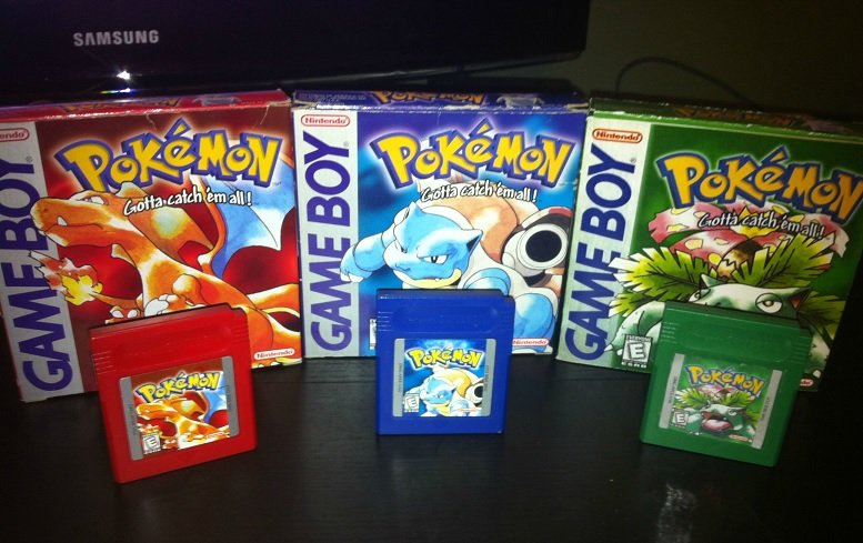 Pokemon Red Blue Green Covers