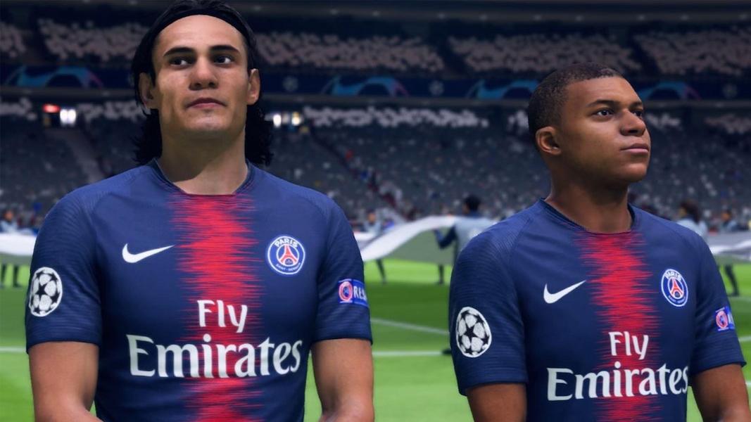 Edinson Cavani and Mbappe in FIFA