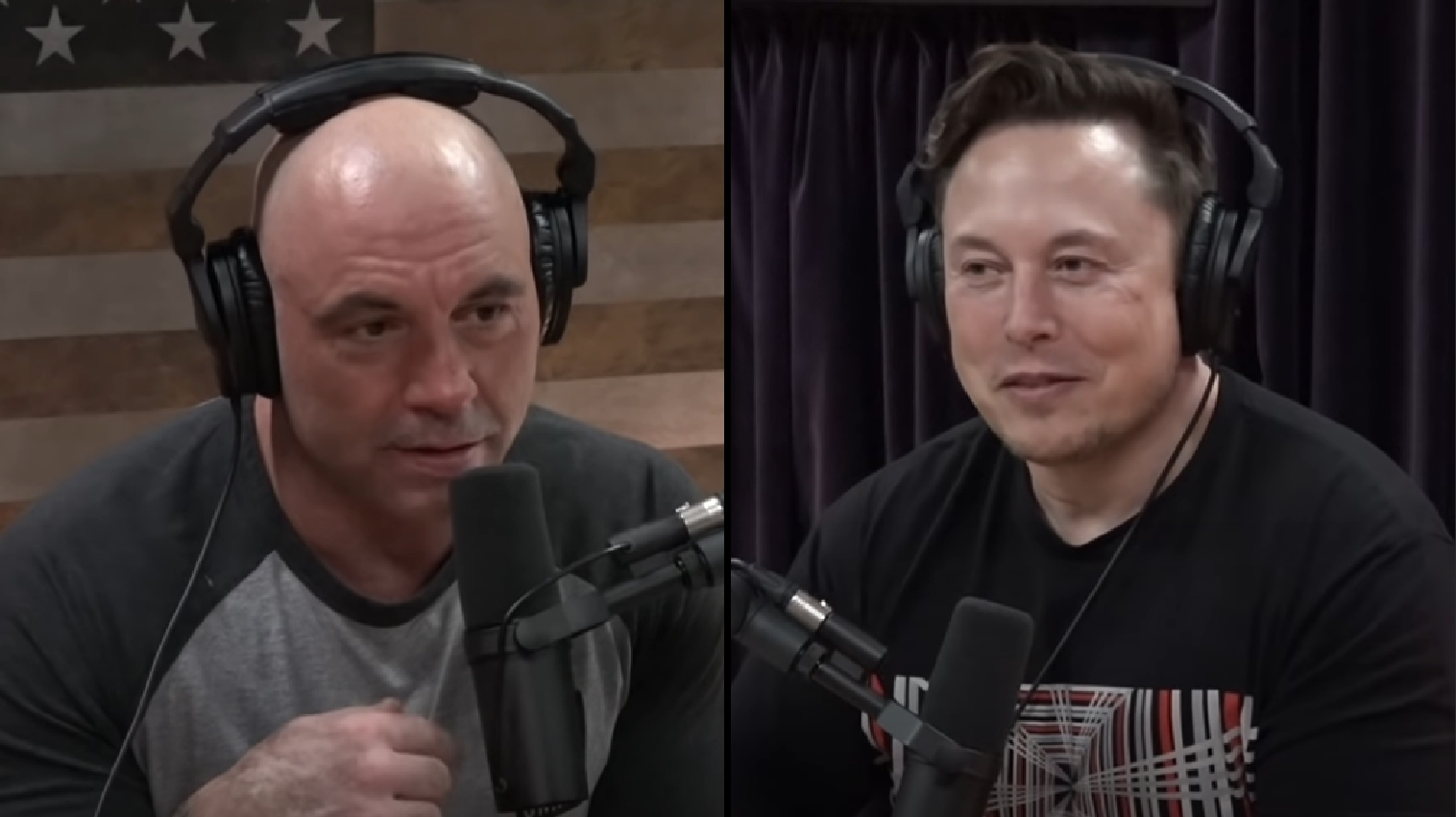 Joe Rogan and ELon Musk on the JRE podcast