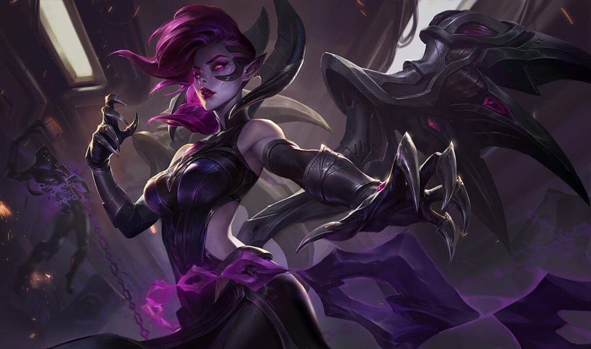 Blade Mistress Morgana splash art for League of Legends