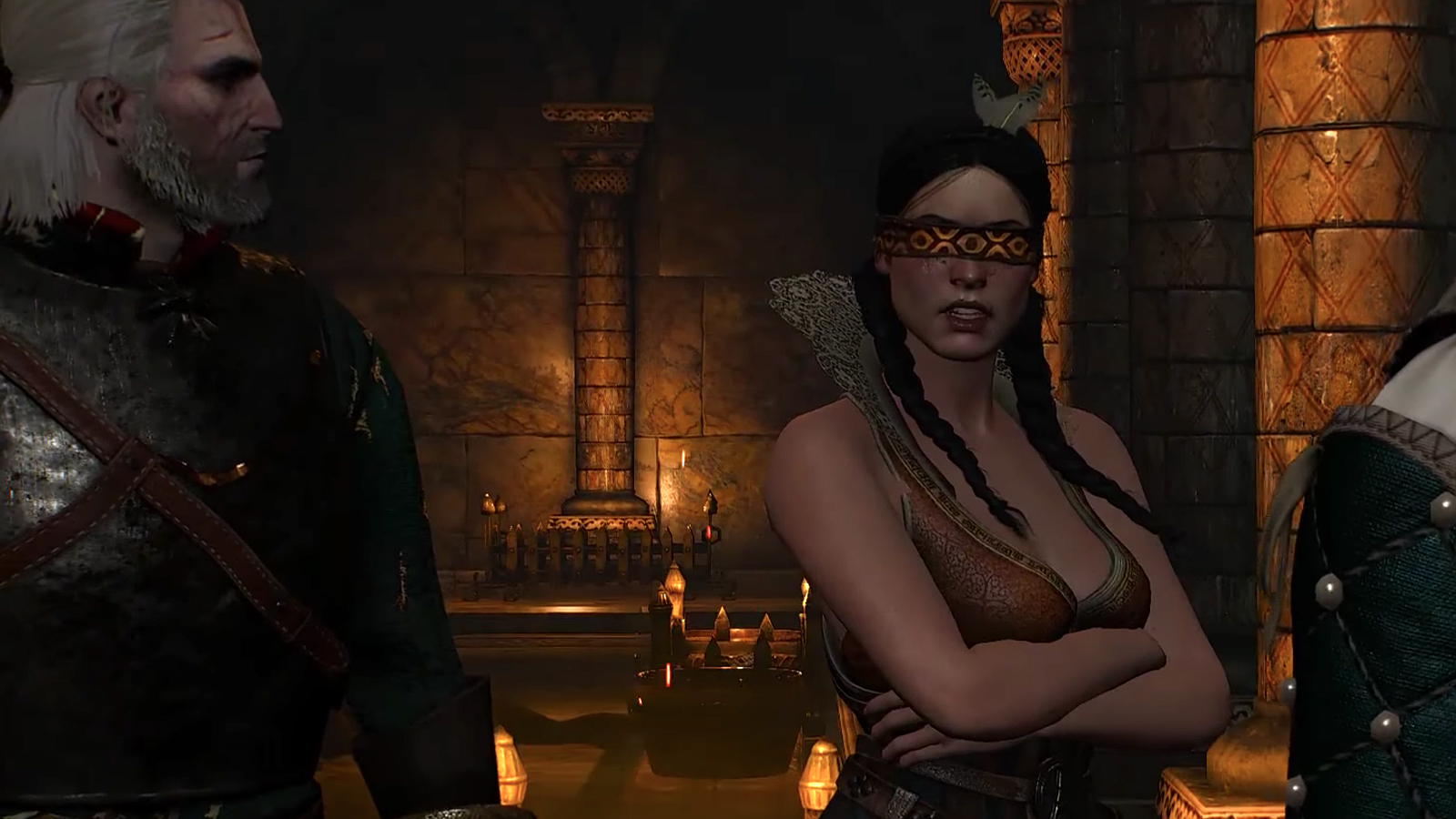 Philippa Eilhart in The Witcher 3 with Geralt