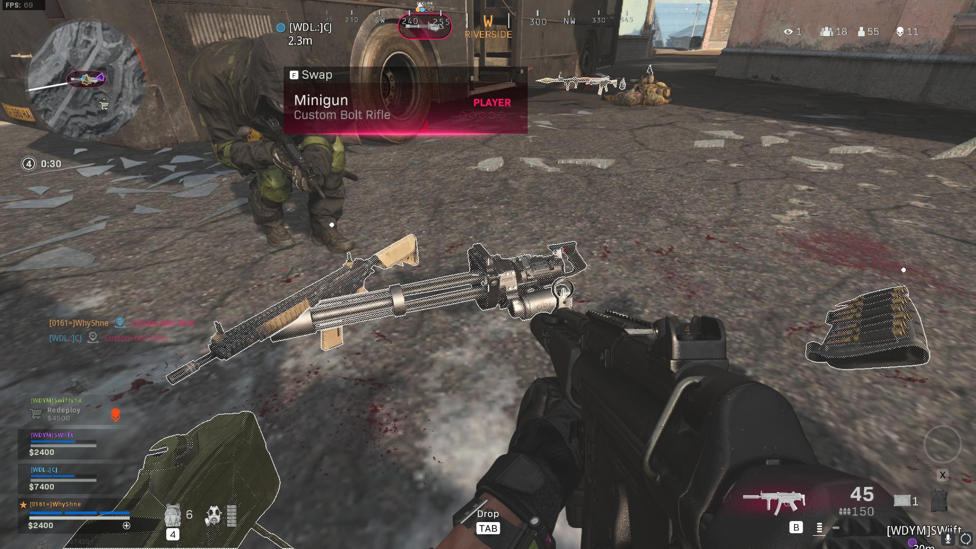 Minigun in Warzone.