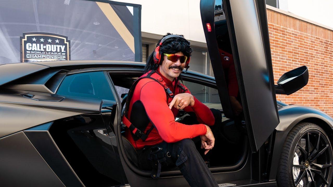 Dr Disrespect in a Lamborghini