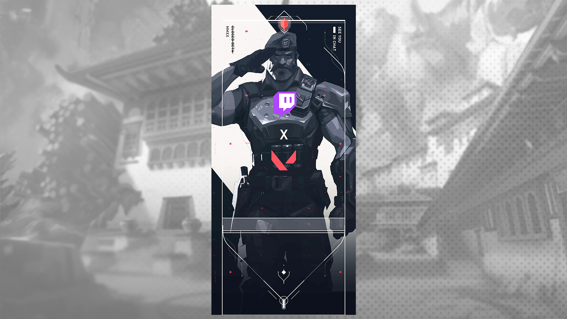 Valorant Twitch player card.