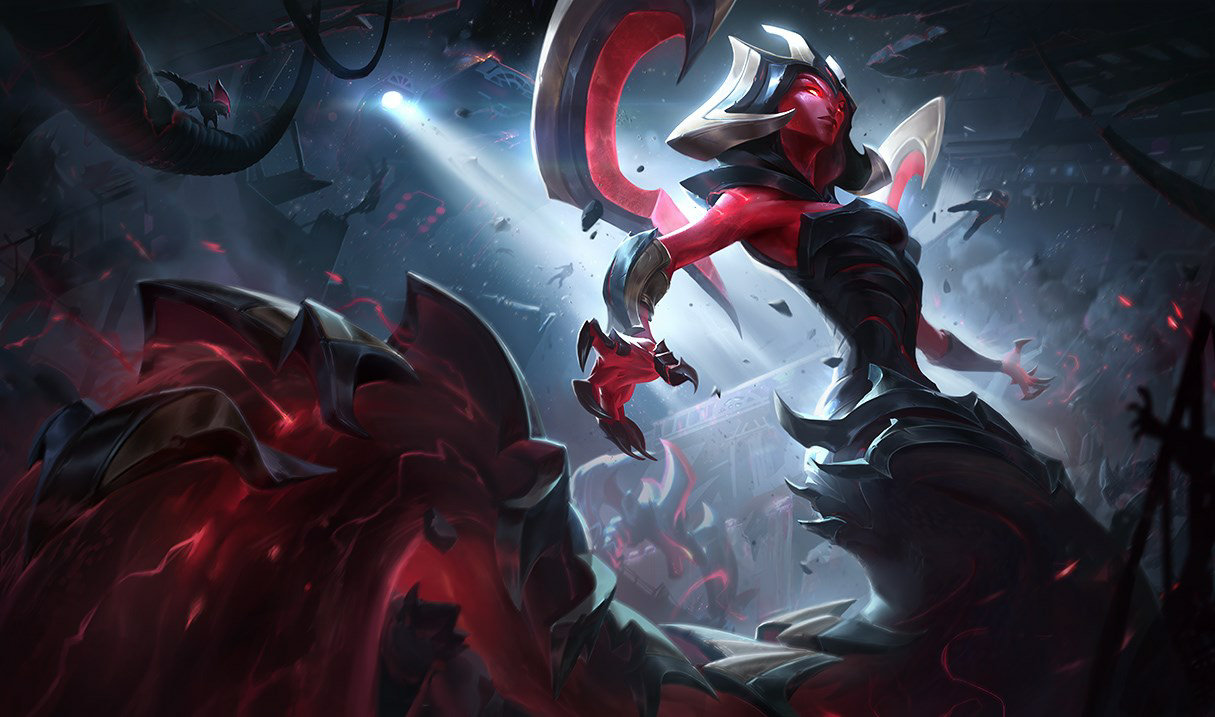 Eternum Cassiopeia splash art for League of Legends