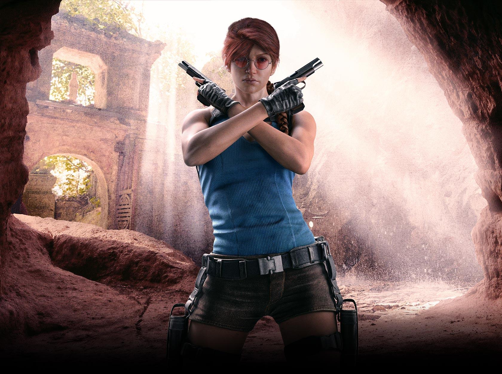 Tomb Raider Ash portrait for Rainbow Six: Siege