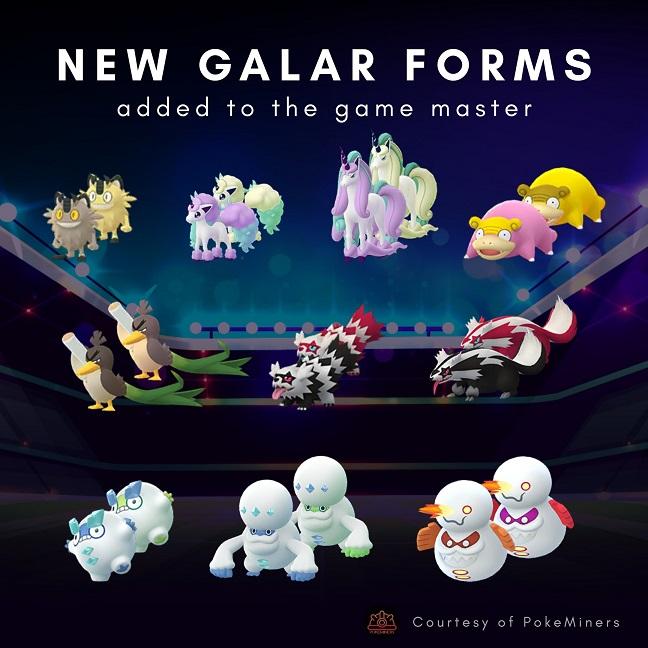 Galarian Assets Pokemon Go